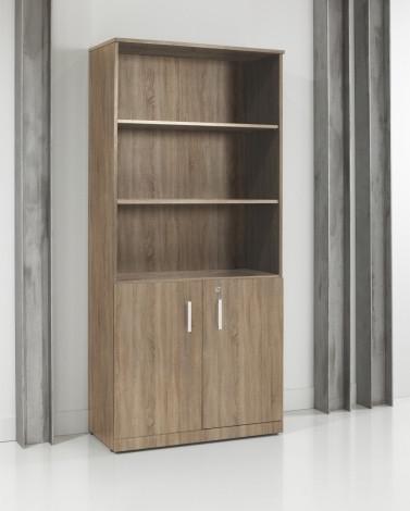Houten draaideurkast - half open 200x90x42cm