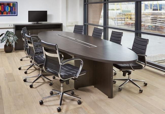 Manager ellips tafel 420x138cm