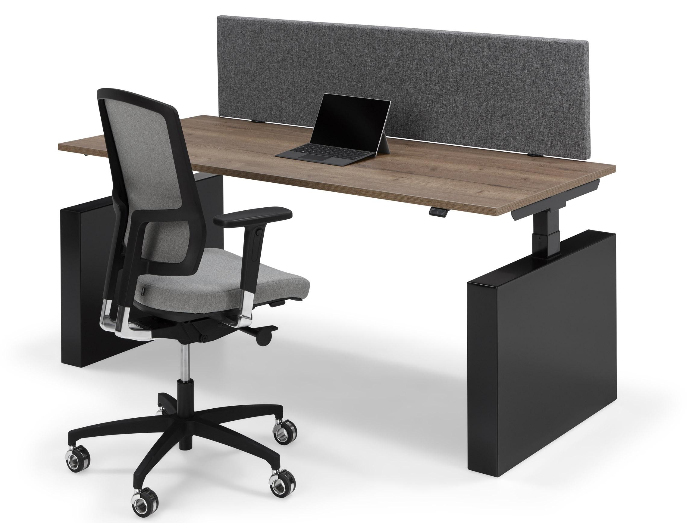 Sta Zit Stoel : Flex electrisch zit sta bureau met wang
