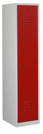 Garderobekast 1 deur met schoon/vuil verdeling (180x40x50cm)