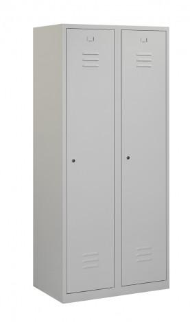 Garderobekast 2 deurs met schoon/vuil verdeling (180x80x50cm)