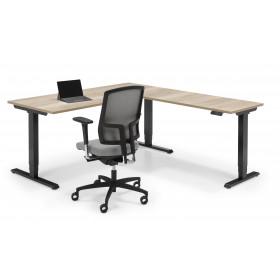 Flex 3 electrisch zit/sta bureau hoek-opstelling