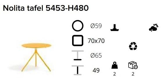 Pedrali Nolita 5453-H480 specs