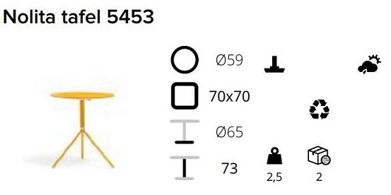 Pedrali Nolita 5453 specs